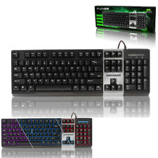 NEMESIS A-JAZZ BACKLIT MECHANICAL STYLE KEYBOARD - SLEEK DESIGN -HEAVY DUTY KEYS