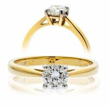 Unbranded Solitaire Not Enhanced Yellow Gold Fine Rings