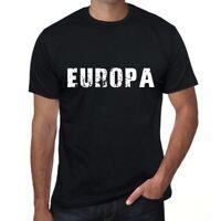 europa Herren T-shirt Schwarz Geburtstag Geschenk 00548
