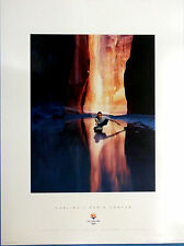 """CURLING - SLC 2002 Olympic Poster  Sports Series, 13"""" X 18"""", USA, Unisex Adult"""