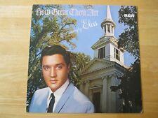 Elvis Presley LP, How Great Thou Art, RCA # LSP-3758, Made in Germany, Orange