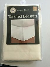 Luxury Hotel Tailored Bedskirt 14-Inch, Twin, Ivory Easy Care New in package