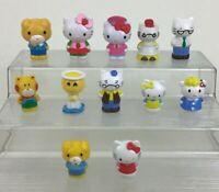 "Hello Kitty Toy Figures 12pc Lot 2"" Mini Plastic Toppers Dog Lamb Sanrio 2011"