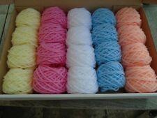 job lot  20 baby pastel colour wool/yarn balls-knitting/crochet crafts