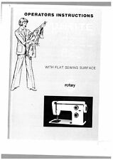 White W690 Sewing Machine/Embroidery/Serger Owners Manual