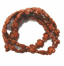 """Coffee 15x18mm Turtle Chalk Turquoise Dyed Mix  Beads 15"""""""