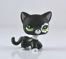 Adorable Littlest Pet Shop Collection LPS Toys Short Hair Cat Blythe Black Rare