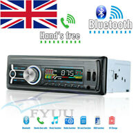 Car In-Dash Single Din Stereo Bluetooth MP3 Player 4 Channel RCA Output UK Stock