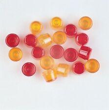 Wedico Lamp lenses. high. red + orange. #147