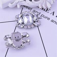 1PC Women Shoes Decoration Clips Elegant Crystal Shoes Buckle Bridal Decor SRAU