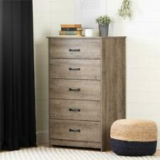 Tassio 5-Drawer Chest-Weathered Oak-South Shore