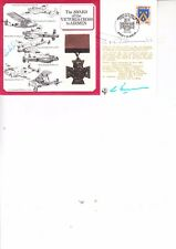 PAT PORTEOUS AND ROD LEAROYD HAND SIGNED 1984 VICTORIA CROSS COVER