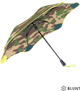 Blunt Regenschirm Taschenschirm XS Metro Auf-Automatik Damen Camouflage gelb
