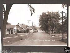 Vtg Postcard Galena Street South Wayne Wis RPPC Real Photo WI Wisconsin