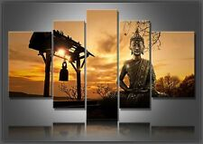5P Modern Wall Deco Art Abstract Oil Painting Wall Decor Canvas,Buddha(No Frame)