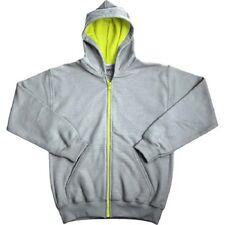Gildan Boys Fleece Zip Hood Sweatshirt gray 6-8 long sleeve solid color