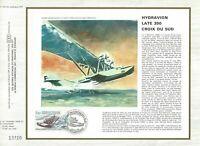 Foglio CEF 1er Giorno Francia Idrovolante Croce Sud Lattice 300 1982