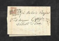 Lombardo Veneto lettera con 10 soldi 1859 da casalpus terlengo a Piazza 9 pt