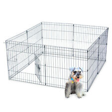 """24"""" Tall Pet Playpen Dog Rabbit Puppy Play Pen Cage Folding Metal Crate Fence"""