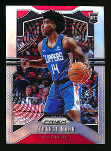 2019-20 PANINI PRIZM #296 TERANCE MANN RC SILVER PRIZM ROOKIE CLIPPERS! HOT!