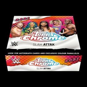 WWE TOPPS  CHROME SLAM ATTAX 2021 CARDS BOX Autograph Cards Refractor