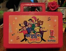 """The Original Wiggles """"Six Flags"""" Wiggles World Red Case Pencil Box 2007"""