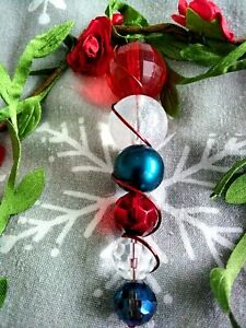 Handmade Christmas Tree Decoration. Recycled Jewellery. Sparkle Gift