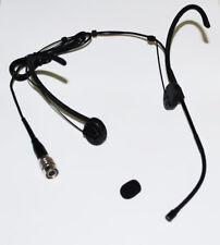 Foldable Omnidirectional Double earhook Headset Microphone Audio Technica Black