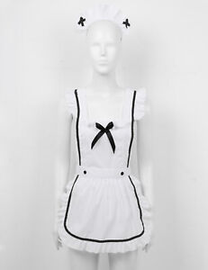 Women's Maid Costume Apron Fancy Cosplay Uniform Fancy Dress G-strings Outfits