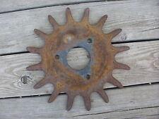 "(1) Spiked Rotary Hoe Wheel Dawn Flower Garden Wall Art SteamPunk 13"""