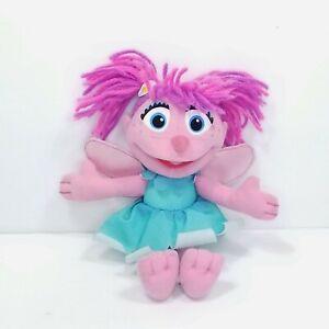 "Sesame Street Hasbro Abby Cadabby 8"" Plush Stuffed Toy Pink Purple Hair Muppet"