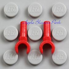 NEW Lot/2 Lego RED MINIFIG HANDS Demon Devil Alien Monster Minifigure Glove Pair