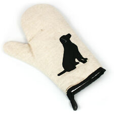 Black Dog Natural Beige Heat Resistant Single Oven Glove Mitt Kitchen 153-106