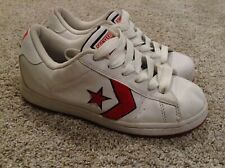 Converse White Red All Star Lace Up Sneakers Size 8 Eur 38