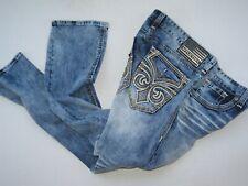 Men Authentic AFFLICTION Ace Fleur Flectch Jeans Size 36