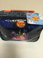 NEW KIDS BLUE PHINEAS AND FERB SCHOOL PACKED LUNCH BAG INSULATED PICNIC/STORAGE