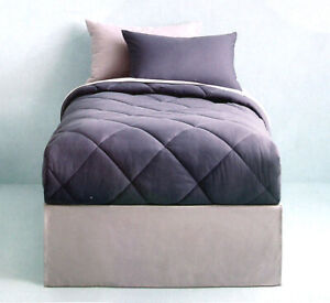 SLATE BLUE GRAY TWIN COMFORTER SHEETS SHAM BEDSKIRT 6PC BEDDING NEW