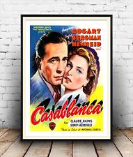 Casablanca : Humphrey Bogart , Belgian Vintage Film poster reproduction.