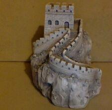 Vintage Figurine. Castle on a Hill. Beige Resin. Detailed.