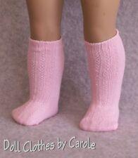 "Pink Knee-High Socks fit 15-18"" Dolls-American Girl-Kidz n Cats -Bitty Baby"