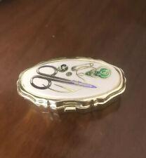 Lovely Vintage Mini Sewing Kit / Tin Pill Box