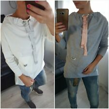 NEW Fashion Women's Ladies Girls Top Blouse size L/XL long sleeves casual