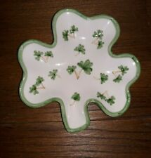 Clover Shaped Green Ceramic Dish Bowl St Patrick's Day Shamrock