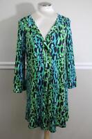 Diane von Furstenberg Gaby Printed Long-Sleeve Dress SIZE 6 (DR500