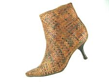 MIKALA WOVEN LEATHER  Ankle Boot Size 8