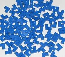 Lego 100 New Blue Plates 2 x 2 Corner Parts Building Blocks