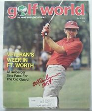 AL GEIBERGER signed Mr 59 1979 GOLF WORLD magazine AUTO Autographed RED BLUFF CA