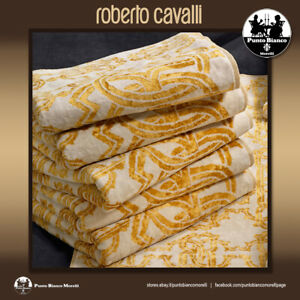 ROBERTO CAVALLI HOME   LOGO GOLD   Set of Guest and Hand Towel or Bath Sheet
