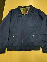 Vintage Eddie Bauer Men's Dad Plaid Lined Blue Harrington Jacket Size XL  USA