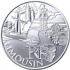 3 X 10 euros des régions argent Limousin 2010 2011 2012